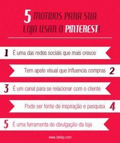 5 Motivos para a sua loja usar o Pinterest no blog do Tanlup.