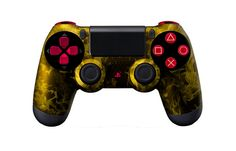 PS4Controller-YellowFire   Flickr - Photo Sharing! #moddedcontrollers #customcontrollers #ps4controllers #playstation4 #dualshock4 #PS4 #customps4controllers #moddedps4controllers