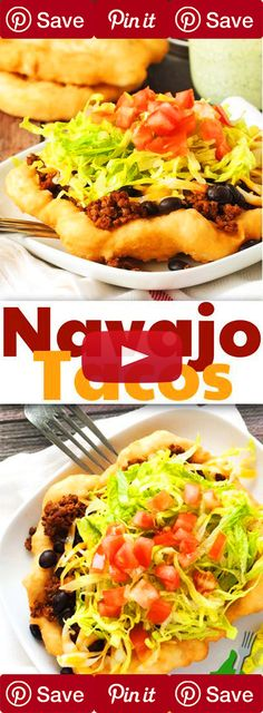 Navajo Tacos Navajo Tacos can be topped any way you like to eat your tacos! Just make up the fry bread and smother it with all your favorites. Ingredients Baking & Spices 2 cup Self rising flour 1 Shortening Liquids 1 cup Water Pickedz