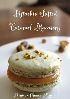Pistachio Salted Caramel Macaron Recipe shared at Katherines Corner