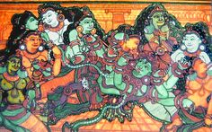 Krishna with Radha and other Gopinis (Reprint on Paper - Unframed)
