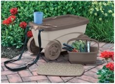 Amazon.com : Suncast GDS203 Garden Scooter, Orange : Patio, Lawn U0026 Garden |  Gardening | Pinterest | Gardens