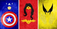 Simple Minimalistic Superhero Mockups By Calvin Lin - Captain America, Wonder Woman, Weapon X http://coolpile.com/media-magazine/minimalist-superhero-illustrations-in-vibrant-colors-by-calvin-lin/  via CoolPile.com  Batman, Boy Wonder, Captain America, Gifts For Her, Gifts For Him, Green lantern, Iron Man, Posters, Scarlet Speedster, Spiderman, Superheroes, Superman, Weapon X, Wonder Woman