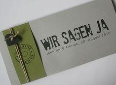 Hochzeitskarte FELINA mit Banderole und Kordel / Wedding Card FELINA