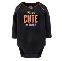 "Carter's ""I'm So Cute It's Scary"" Bodysuit – Baby Personalized with Baby's name on butt."