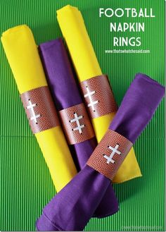 DIY Football Napkin
