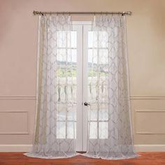 Half Price Drapes Florentina Embroidered Sheer Single Curtain Panel & Reviews | Wayfair