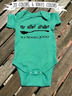 Harry Potter baby Harry Potter onesie Harrry Potter gift My other stroller is a Nimbus 2000 white 1-2 day colors 1-5 days MSG for inventory