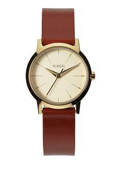 Kenzi Leather - Gold/ Saddle | Nixon