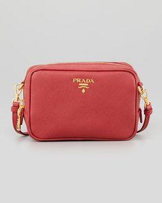 e840d2457dd4 Prada Saffiano Mini Zip Crossbody Bag