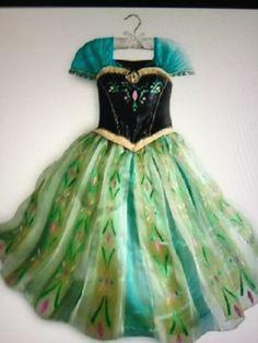 Disney Store Elsa Ball Costume FROZEN Anna Deluxe Coronation Dress 7/8 VHTF!