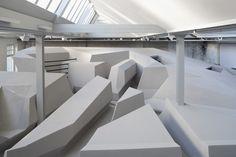 """""""The End of Sitting"""" -Projekt von RAAAF skizziert das Büro der Zukunft. (Bild: RAAAF)"""