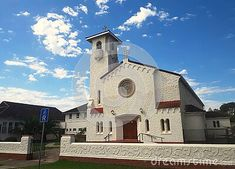 Port Elizabeth Oratory, St Bernadette`s Catholic Church in Walmer, Port Elizabeth South Africa. Photo made on February, 2020 Port Elizabeth South Africa, Catholic, February, Victoria, Mansions, House Styles, Photos, Fancy Houses, Mansion