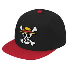 Description Show your pride for becoming One Piece fans Details - Otto Cap 125-978 - Wool Blend Snapback - 15% Wool 85% Acrylic - Structured - Firm Front Panel - 6-panel Cap - Seamed Front Panel with