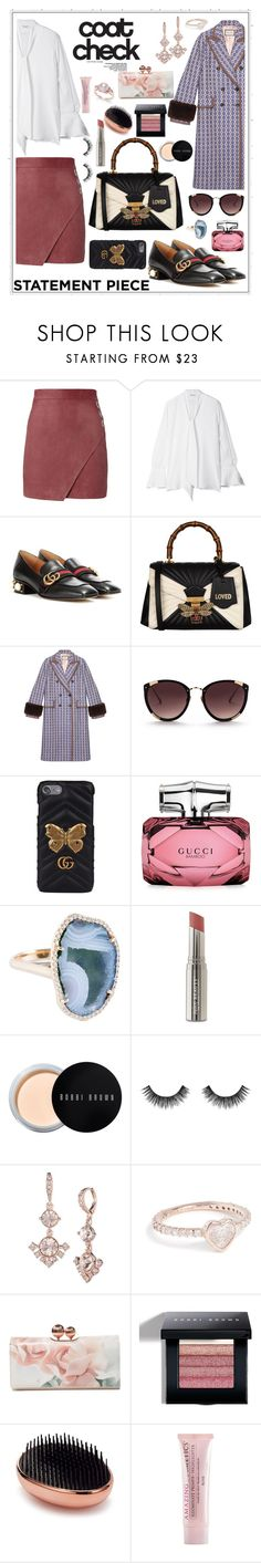 """""""Untitled #133"""" by audinai ❤ liked on Polyvore featuring Michelle Mason, Equipment, Gucci, Rebecca Taylor, Juice Beauty, Bobbi Brown Cosmetics, Velour Lashes, Givenchy, Shay and Ted Baker"""