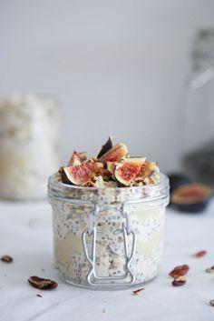 ... fig, tahini & Honey overnight oats ...