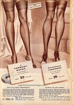 montgomery ward great spring sale 1941 catalog. 1940s lingerie, stockings advertisement.