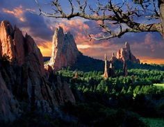 Morning Light At The Garden Of The Gods Park In Colorado Springs, Colorado my home town, boy do I miss it...