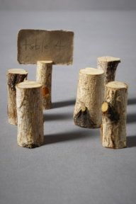 DIY - Branch place holders.  What I would use these for, however, if food labels at the buffet.