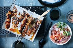 Classic skewers, perfect the next day off the skewer and into bread rolls or tossed into a salad. And they work just as well chilled as they do hot.