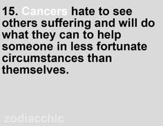 cancer zodiac. Sometimes more than they should