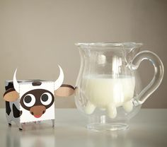 Milk jug with udders