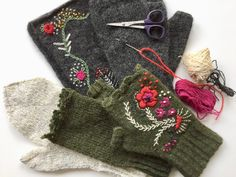 wool embroideries …