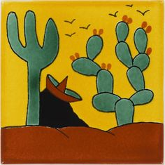 Mexican Tile - Ranchero 1 Talavera Mexican Tile