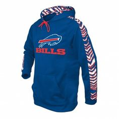 NFL Officially Licensed Buffalo Bills Zebra Print Pullover Hoodie