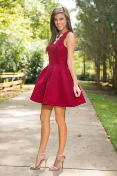 @TheMintJulep  | STEAL - $4600 | #LRD #red #fitandflare #party #homecoming #specialevent #weddingguest  | @littleperfectdress #fashionblog