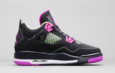 "Girls Air Jordan 4 Retro GG ""Fuschia"" (Detailed Pics)"