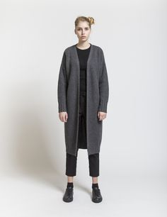 Selfhood - womensfashion outfit. Lambswool/nylon knit with heavy sleeves.