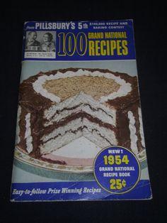 Pillsbury 5th Grand National Bake Off 100 Prize Winning Recipes 1954 Cookbook #Pillsbury