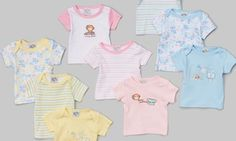 Groupon - 9-Pack of Sweet and Soft T-Shirts for Newborns in [missing {{location}} value]. Groupon deal price: $15.99