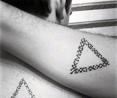 Triangle Roman Numeral Mens Small Tattoo Ideas