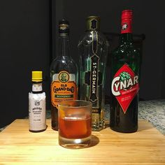 Lonely Angel No. 35  .  1 oz Bourbon  1 oz Cynar  1 oz St-Germain Elderflower Liqueur  4 dashes Angostura Bitters  .  Stir all ingredients except bitters with ice, strain into rocks glass over fresh ice. Float 4 dashes of Angostura. Garnish with orange peel  .  Wonderful negroni variation forwarded to me by my sister, originally published on @wonderlandk.