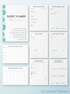 Finance Planner Printable, Budget Planner, Financial Planner, bill tracker - All About Monthly Budget Planner, Budget Binder, Financial Planner, Life Planner, Budget Spreadsheet, Financial Budget, Financial Goals, Planner Book, Planner Inserts