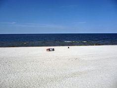Majówka w Łebie 2013. Plaża w Łebie Poland (Polska)