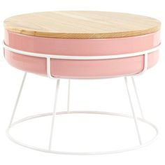 Scott Jones Design Tabla Coffee Table Pink/ash By ($520) ❤ liked on Polyvore featuring home, furniture, tables, accent tables, storage coffee table, storage table, storage furniture, ashwood furniture and home storage furniture