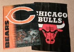 #Chicago #Bears Flag And #Chicago Bulls Flag from $10.0
