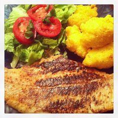 blackened catfish with hushpuppies more dinner hushpuppies blackened ...
