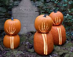 Spooky Skeleton Pumpkins