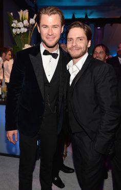 Chris Hemsworth and Daniel Bruhl