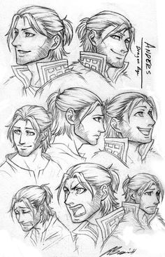 Anders profile sketches by runaire on deviantART
