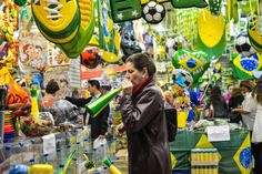 06-11-14_world_cup_15, Stores in downtown Sao Paulo, Brazil, attract customers and tourists' attention ahead of the 2014 FIFA Football World Cup on June 10, 2014.