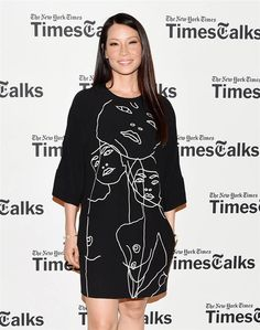 "Actress Lucy Liu attends ""TimesTalks"" at Times Center on July 24, 2014 in New York. Check out more celebs spotted at The NY Times Center! http://celebhotspots.com/hotspot/?hotspotid=5206&next=1"