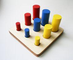 Montessori cylinder ladder educational by MontessoriHandmade