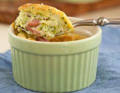 Souffle de brocoli con jamon