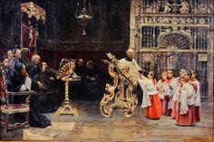 José Gallegos y Arnosa (1857-1917) — Choir Practice, 1886 (802×534)