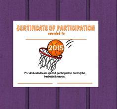 2015 Basketball Sports Certificate Digital by SimGirlsCrafts Free Basketball, Basketball Season, Certificate, Free Printables, Digital, School, Sports, Hs Sports, Sport
